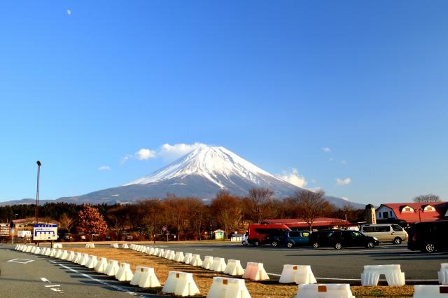 道の駅の富士山