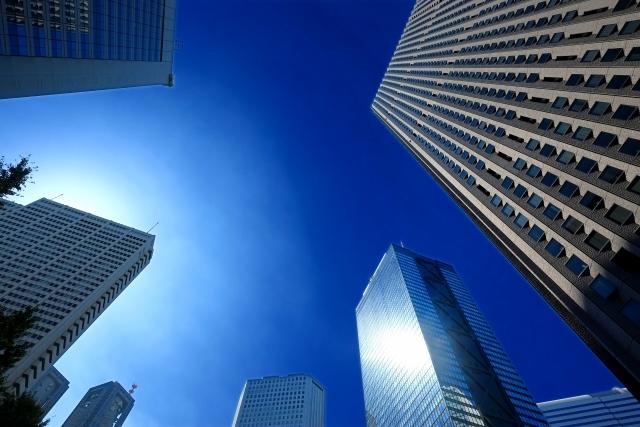 新宿のビルと空