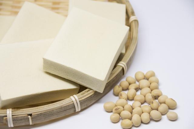 高野豆腐と大豆