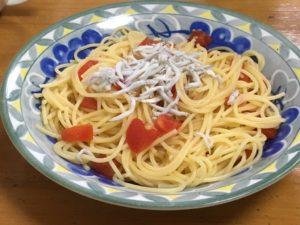 トマトしらすパスタ