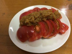 冷やしトマトとりんごソース