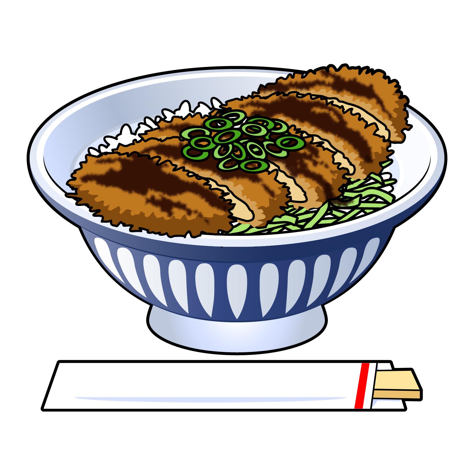 ソースカツ丼イラスト