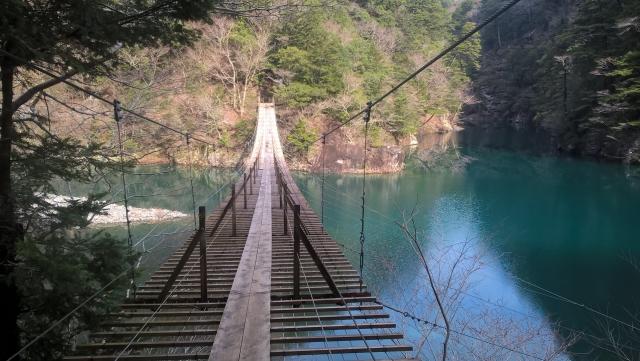 寸又峡吊り橋