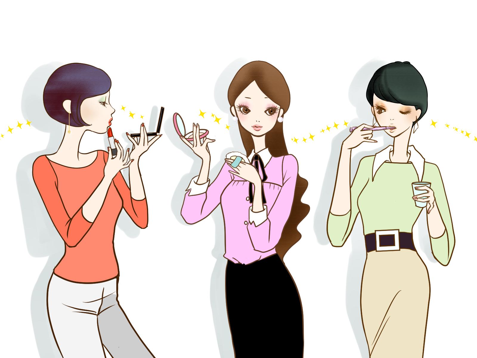 3人の女性のイラスト