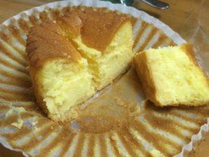 カットしたバスクチーズケーキ