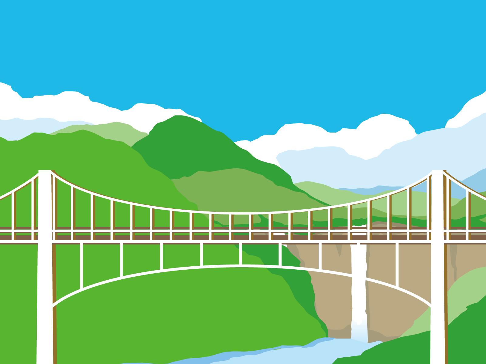 吊り橋イラスト