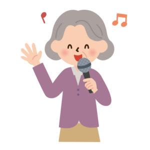 歌うおばあちゃんイラスト