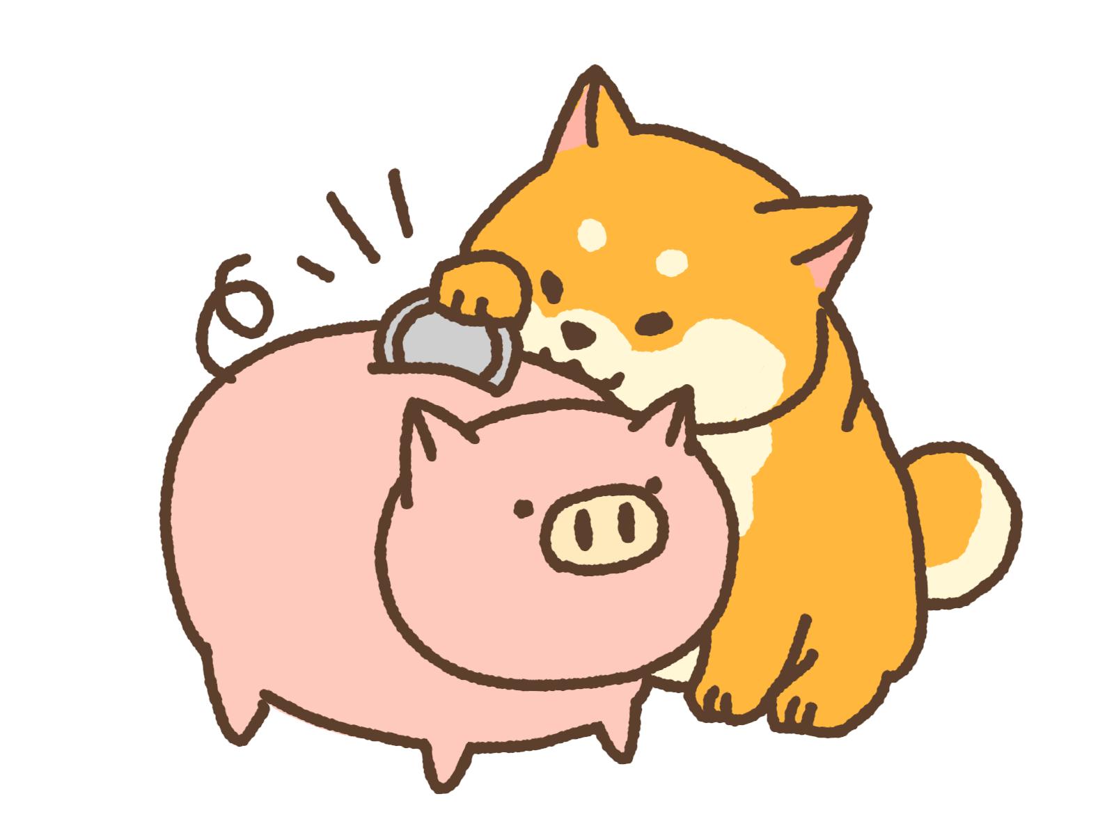 豚の貯金箱イラスト