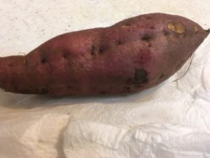 加熱後のサツマイモ