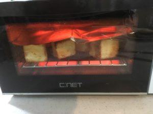 トースト中のトースター