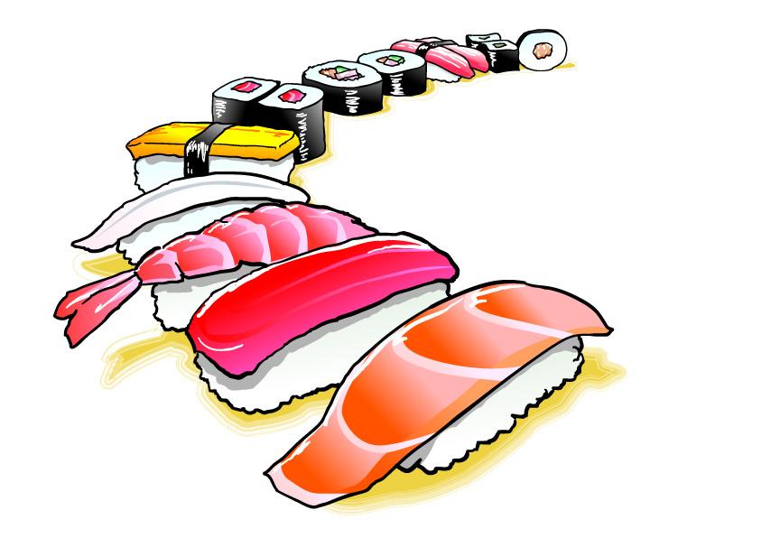 並んだ寿司