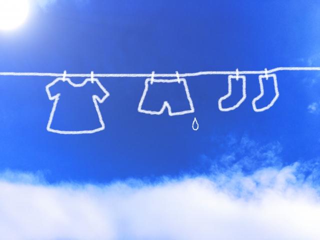 青空と洗濯もの