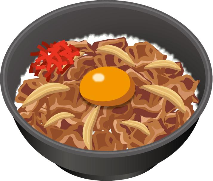 牛丼イラスト