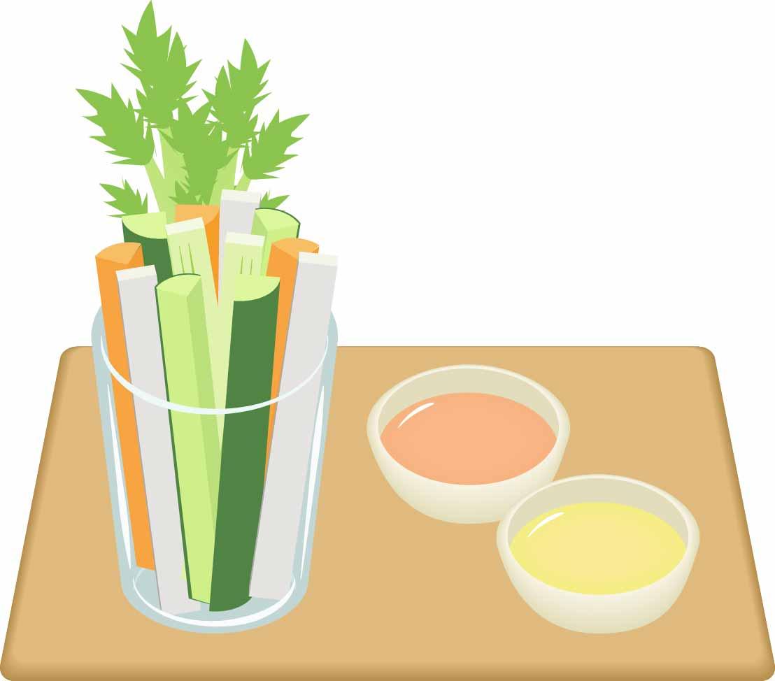 野菜とディップ