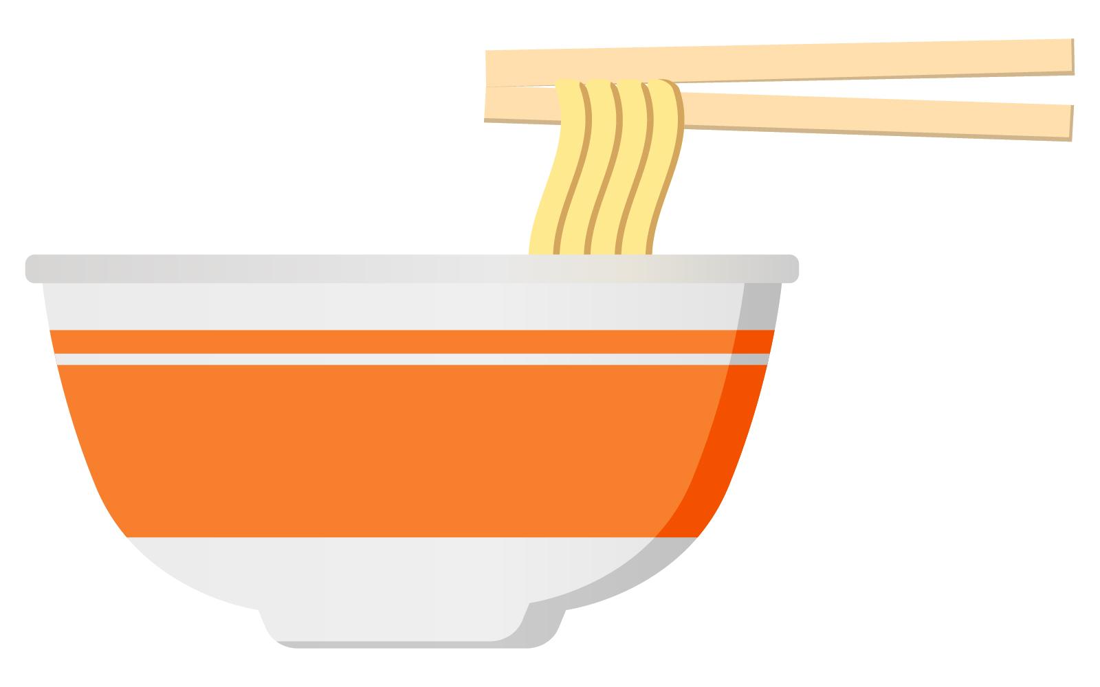 カップ麺イラスト