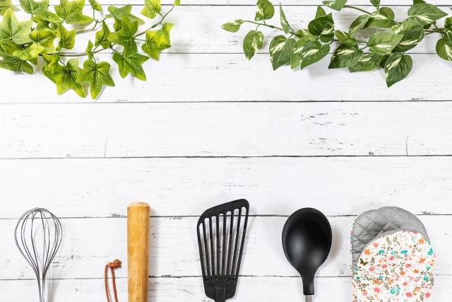 キッチン用品の背景