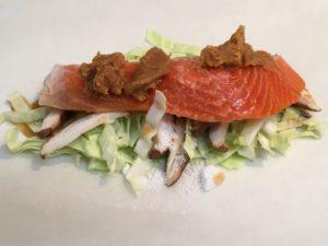 鮭の紙包みの中身