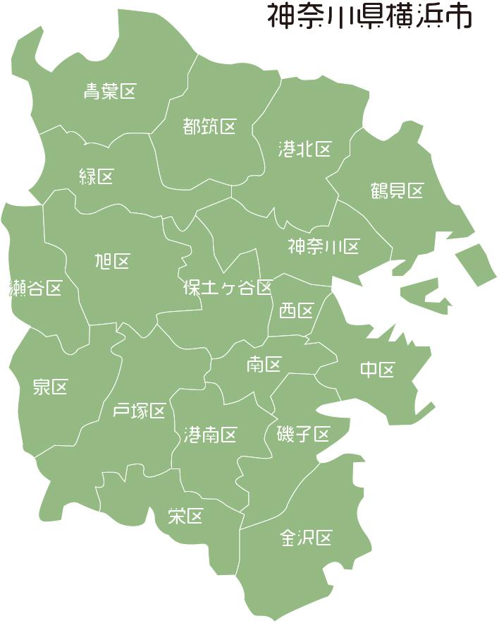 横浜市地図
