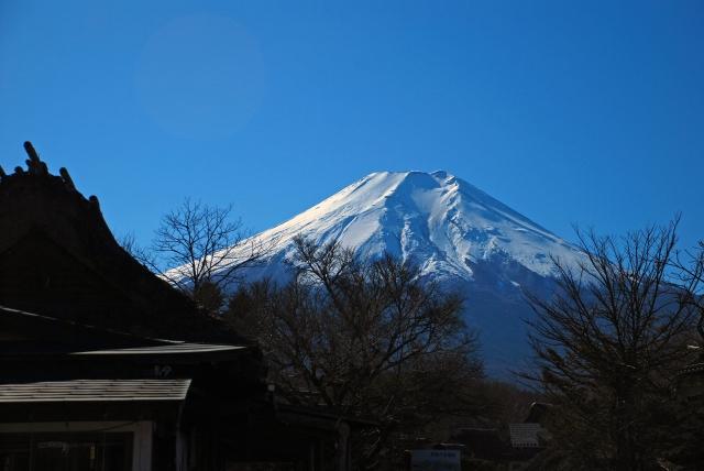 忍野から見た富士山