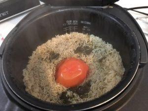 炊きあがりの炊き込みご飯