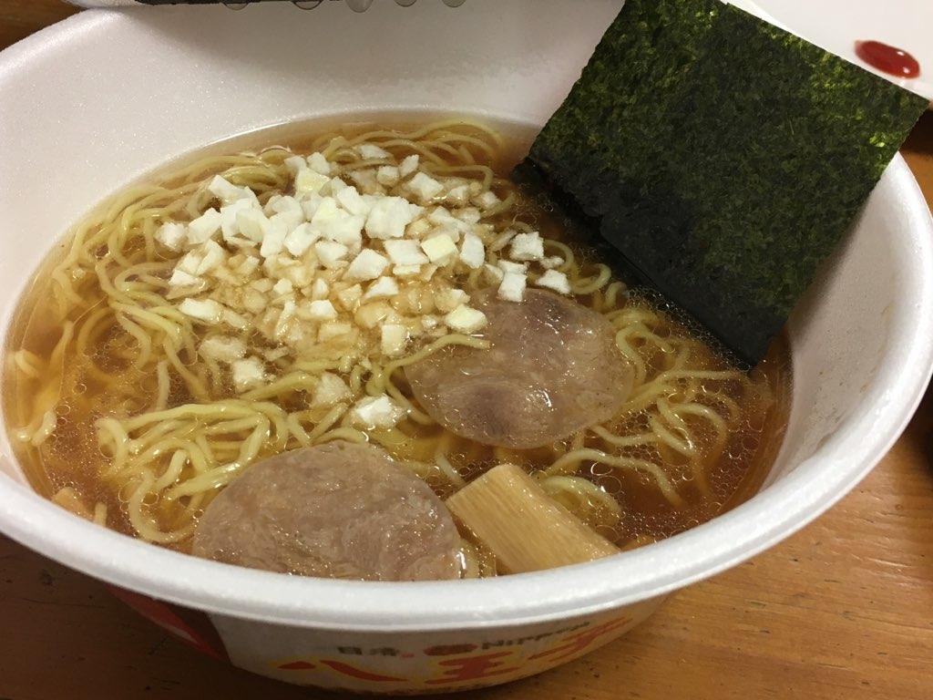 八王子カップ麺完成