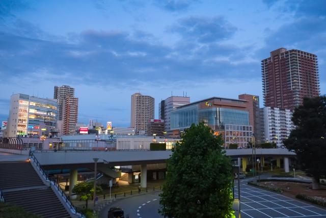 埼玉県川口市の夕方