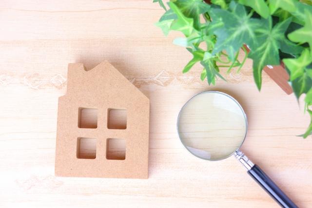 家模型と虫眼鏡