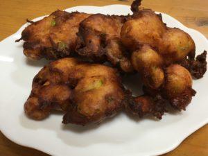 ネギ味噌天ぷら