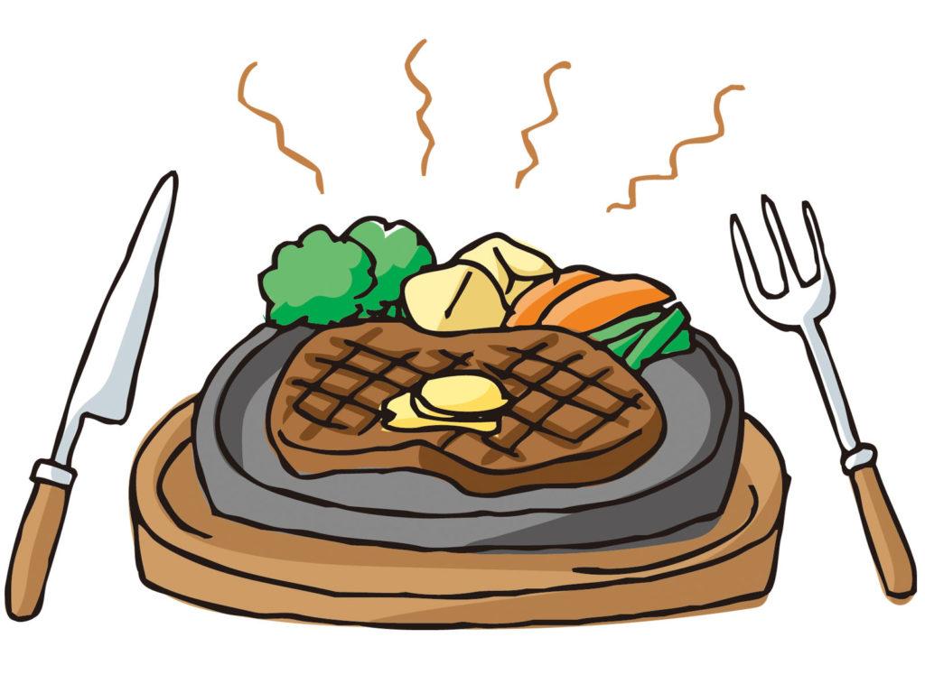 鉄板ステーキ